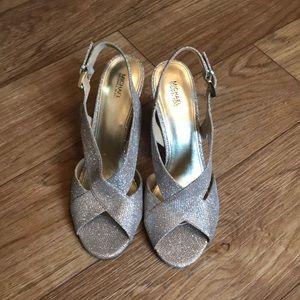 Gold Sparkle Michael Kors Sandals